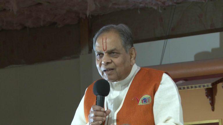 Vraj Temple Schuylkill Haven Pa Anniversary | Saroj & Krishnakant | Speech